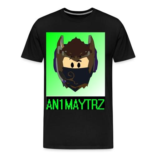 AN1MAYTRZ logo + title - Men's Premium T-Shirt