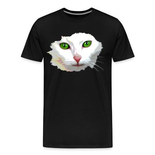 White Cat / weiße Katze - Männer Premium T-Shirt