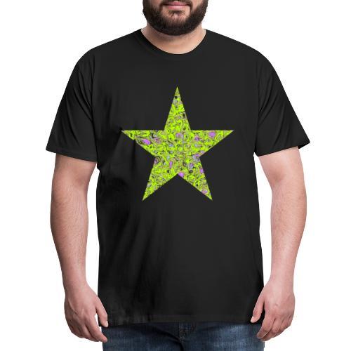Stern psychedelisch - Männer Premium T-Shirt