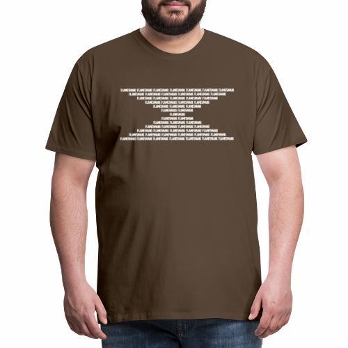 Flamesman1 opdelt - Herre premium T-shirt