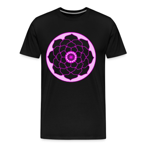 Pink Lotus Flower Mandala - Men's Premium T-Shirt