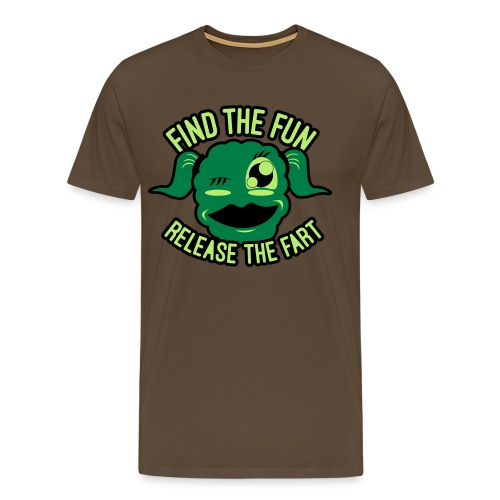 #GirlsOnly: Find The Fun - Release the Fart - Herre premium T-shirt
