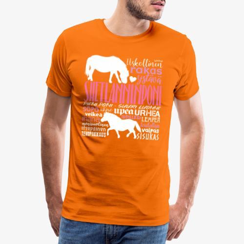 Sheltti Sanat Pink - Miesten premium t-paita