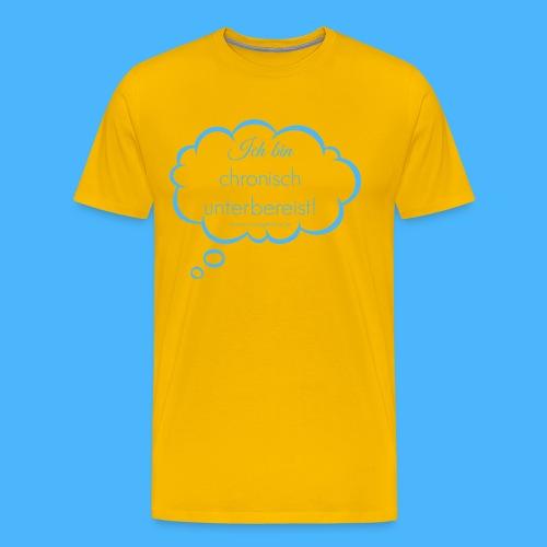 denkblase ganz blau - Männer Premium T-Shirt