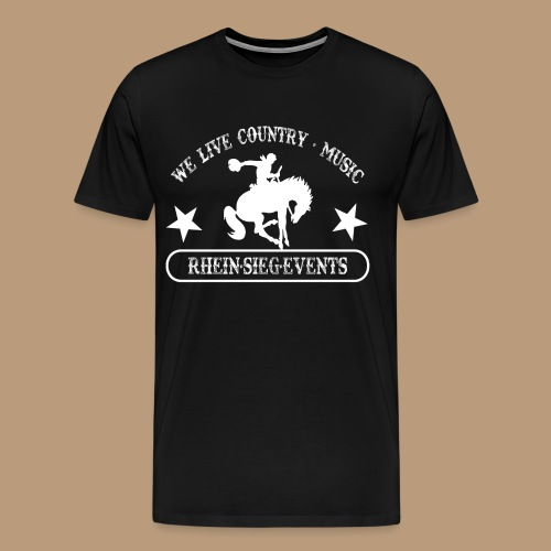 2We_live_Country_Music.png - Männer Premium T-Shirt