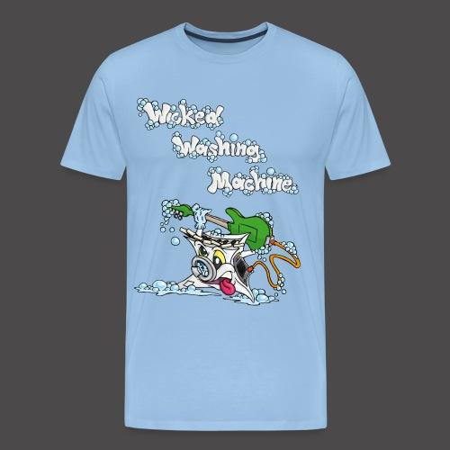 Wicked Washing Machine Cartoon and Logo - Mannen Premium T-shirt