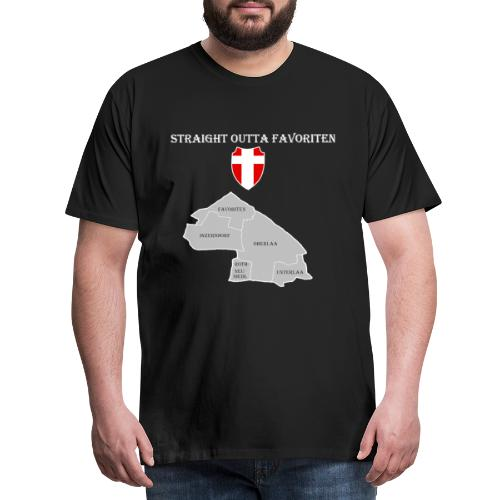 straight outta favoriten wien weiß - Männer Premium T-Shirt