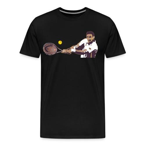 Tennis coup droit 2 mains - T-shirt Premium Homme