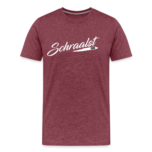 SCHRAALST wit - Mannen Premium T-shirt