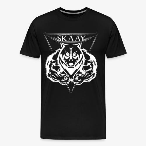 skaay logo white schottdesign png - Männer Premium T-Shirt