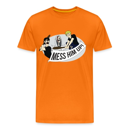 Mess Him Up Photoshop without grey shadows gif - Men's Premium T-Shirt