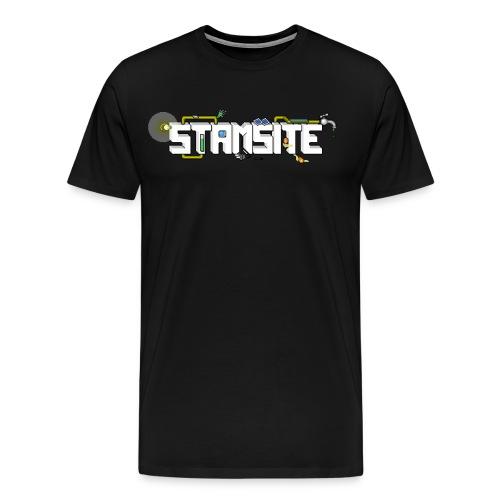 STAMSITE Logo - Premium-T-shirt herr