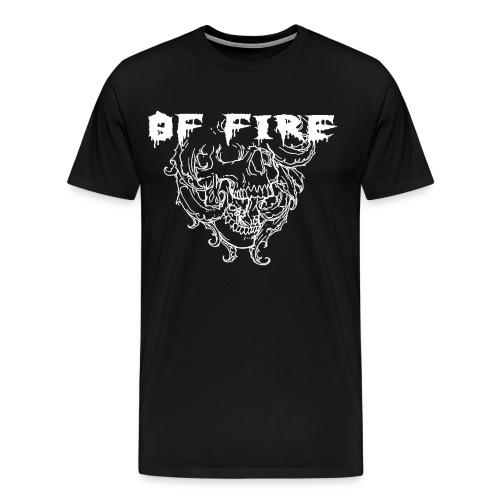 OF FIRE SKALLE VIT - Men's Premium T-Shirt