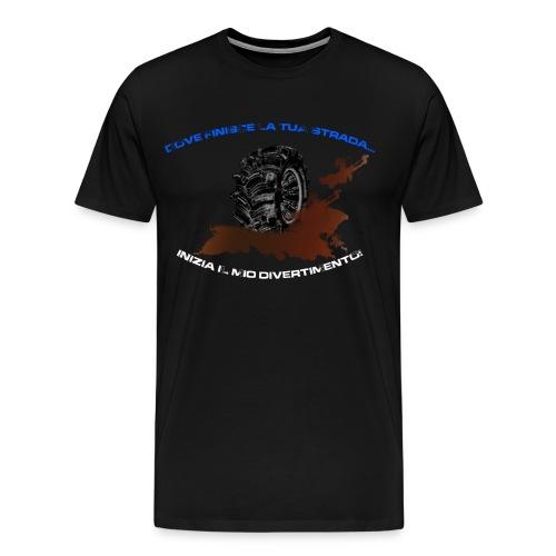 Finisce la mia strada - Maglietta Premium da uomo