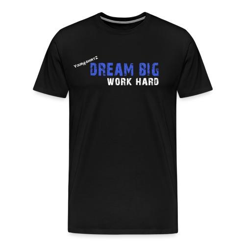 dream big blue png - Männer Premium T-Shirt