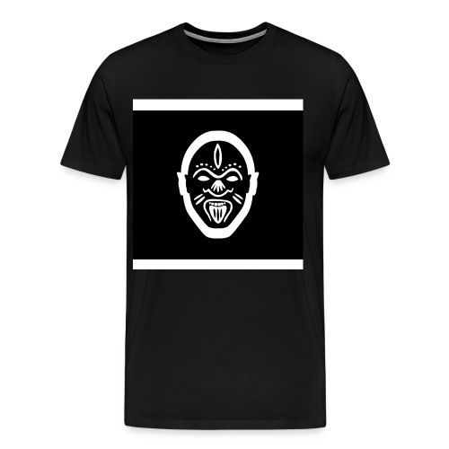 Good Voodoo Tribal Head Black - Men's Premium T-Shirt