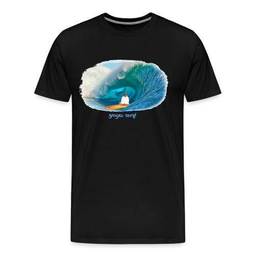 Yoga surf - Premium-T-shirt herr