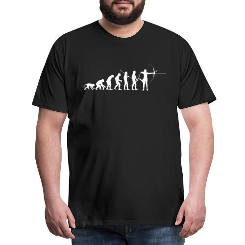 AEvolution de l'homme Arc Classique Recurve Archer - T-shirt Premium Homme