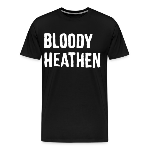 bloodyheathen_logo_valk - Miesten premium t-paita
