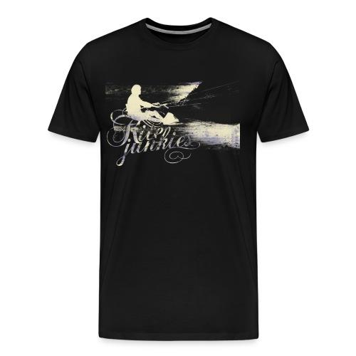 kitejunkies mensnavy - Men's Premium T-Shirt