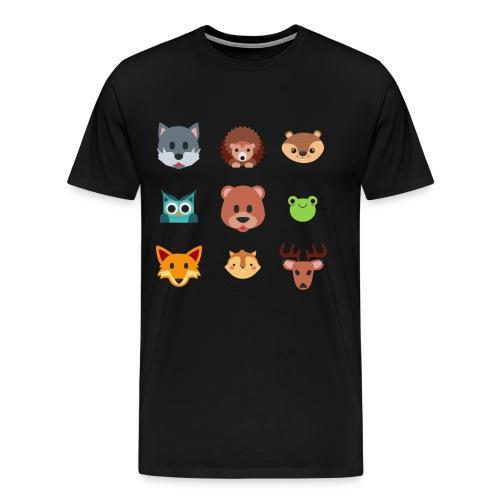 Les animaux de la forêt - T-shirt Premium Homme