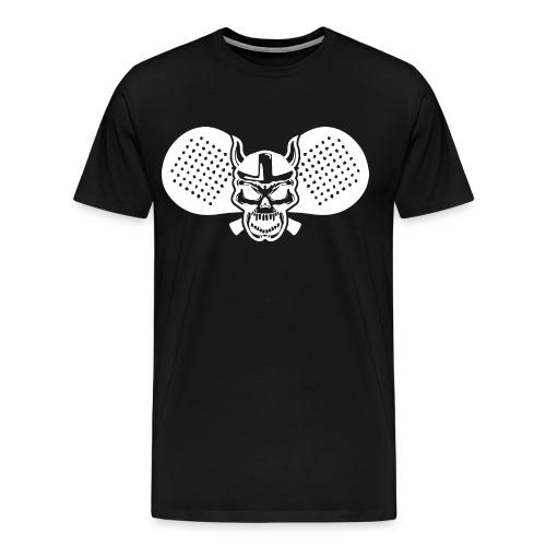 Calavera vikinga padel bl - Camiseta premium hombre