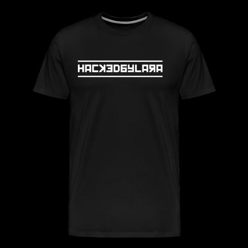 HackedByLara_Logo -Weiß- - Männer Premium T-Shirt
