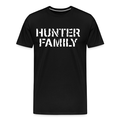 HunterFamilyTransLrg png - Men's Premium T-Shirt