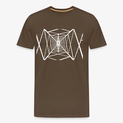 Quermast V2 Weiß - Männer Premium T-Shirt