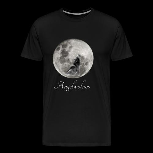 Heulender Wolf vor Mond Angelwolves - Männer Premium T-Shirt