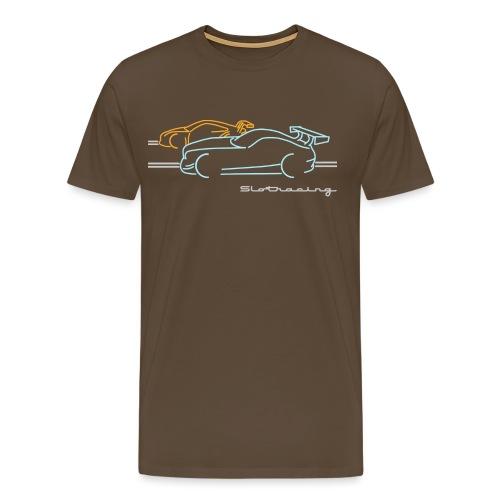 Slotracing 2 cars - Männer Premium T-Shirt
