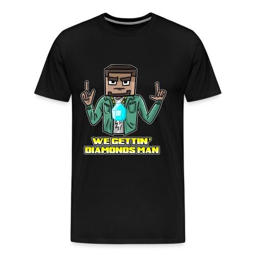 wegettindiamondsman - Men's Premium T-Shirt