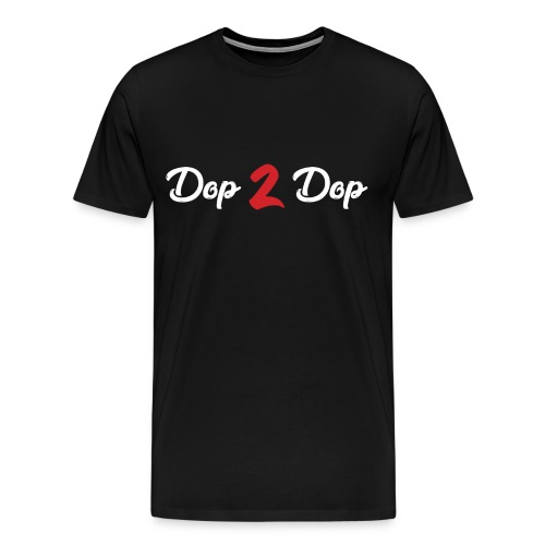 Dop 2 Dop Wit en Rood - Mannen Premium T-shirt