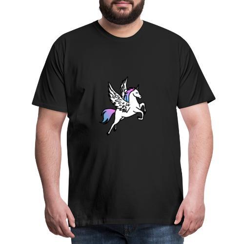 Fliegendes Einhorn - Männer Premium T-Shirt