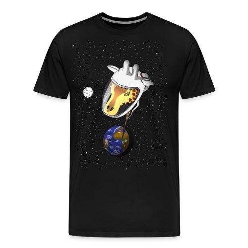 Giraffe im Weltraum - Männer Premium T-Shirt
