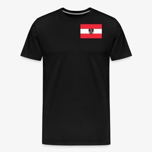 Österreichflagge mit Wappen - Männer Premium T-Shirt
