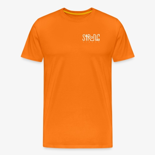 strong vienna logo white - Men's Premium T-Shirt