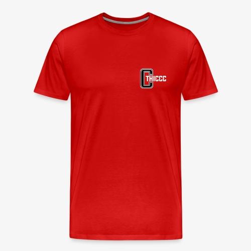 thiccc logo Black and White - Men's Premium T-Shirt