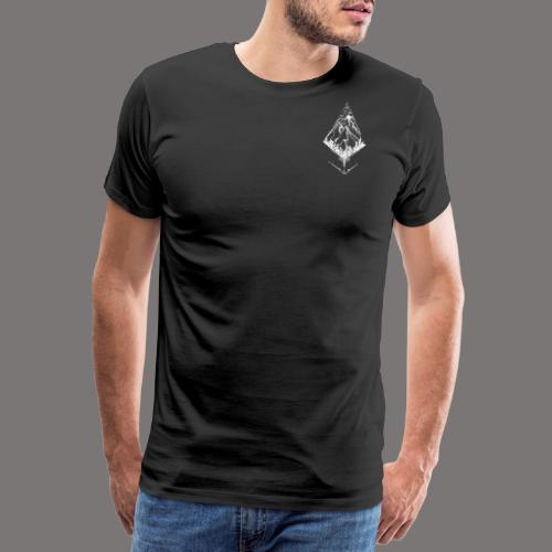 Sky High Mountain hvid - Herre premium T-shirt