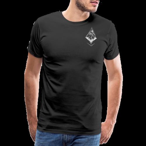 Sky High Mountain hvid - Herre premium T-shirt