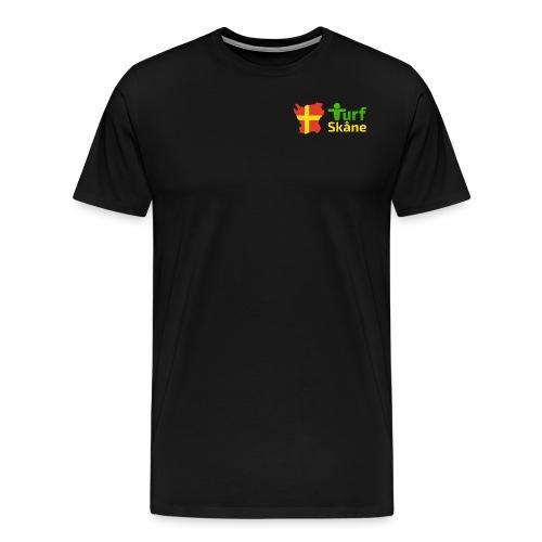 Turf Skåne Logo gul - Premium-T-shirt herr