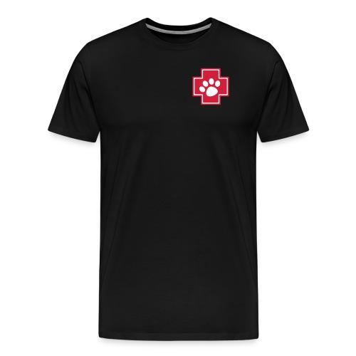 Notpfote Logo 4c rund - Männer Premium T-Shirt