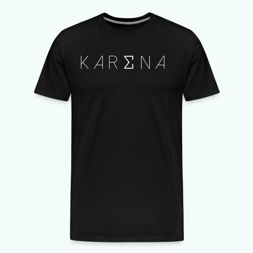 Karena White Logo - Men's Premium T-Shirt