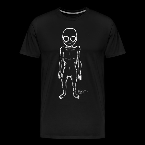 fuken white alien png - Men's Premium T-Shirt