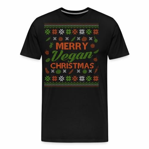Merry Vegan Christmas Vegane Weihnachten - Männer Premium T-Shirt