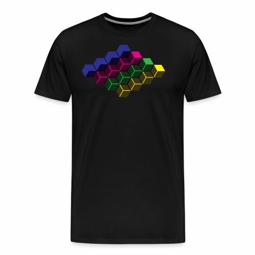Cubes - Herre premium T-shirt
