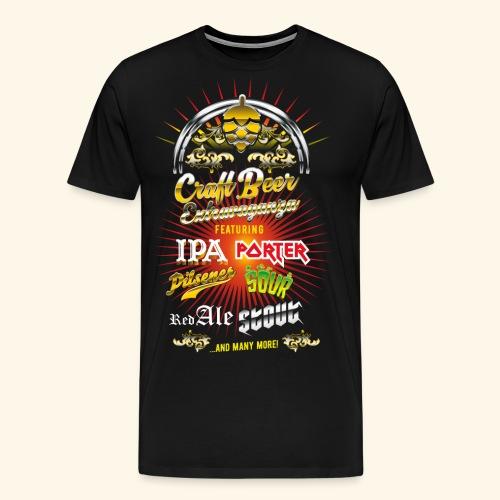 Bier-Shirt Craft Beer Extravaganza - Männer Premium T-Shirt