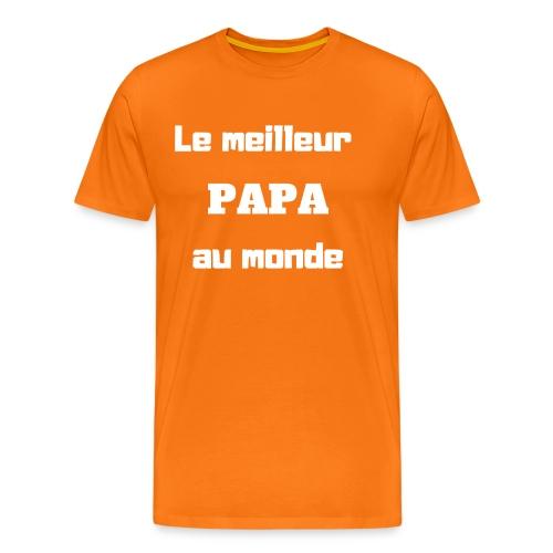 Le meilleur papa au monde - T-shirt Premium Homme