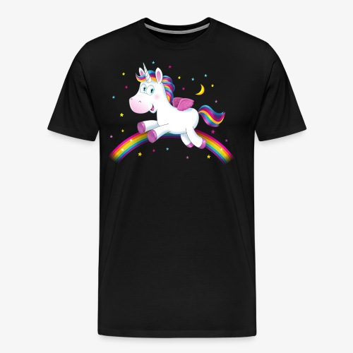 Einhorn kleines Unicorn Regenbogen Geschenk - Männer Premium T-Shirt
