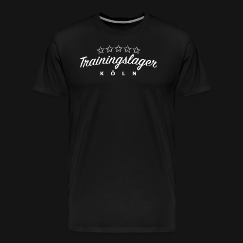 trainingslager font weiss png - Männer Premium T-Shirt